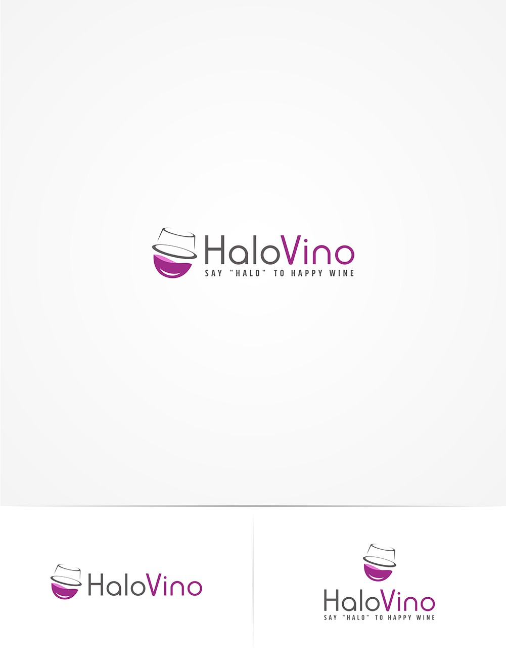 FUN WINE logo for patent-pending HaloVino's Kickstarter Campaign, potentially LOTS more work for winner