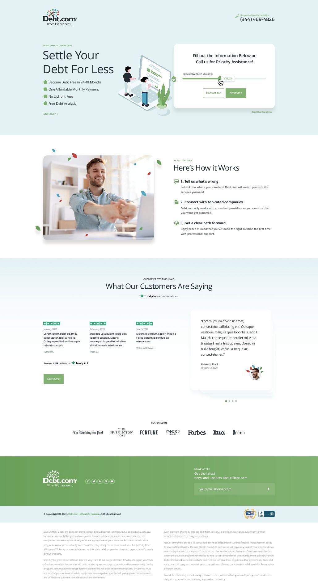 Responsive landing page design that converts
