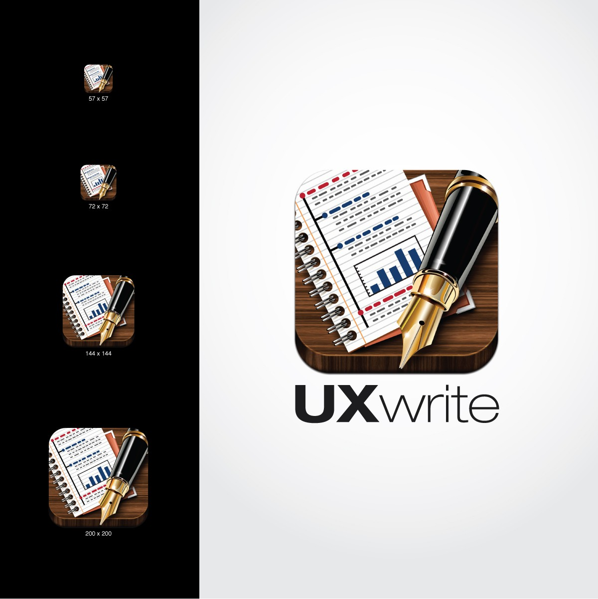Icon for UX Write, a brand new word processor for iOS
