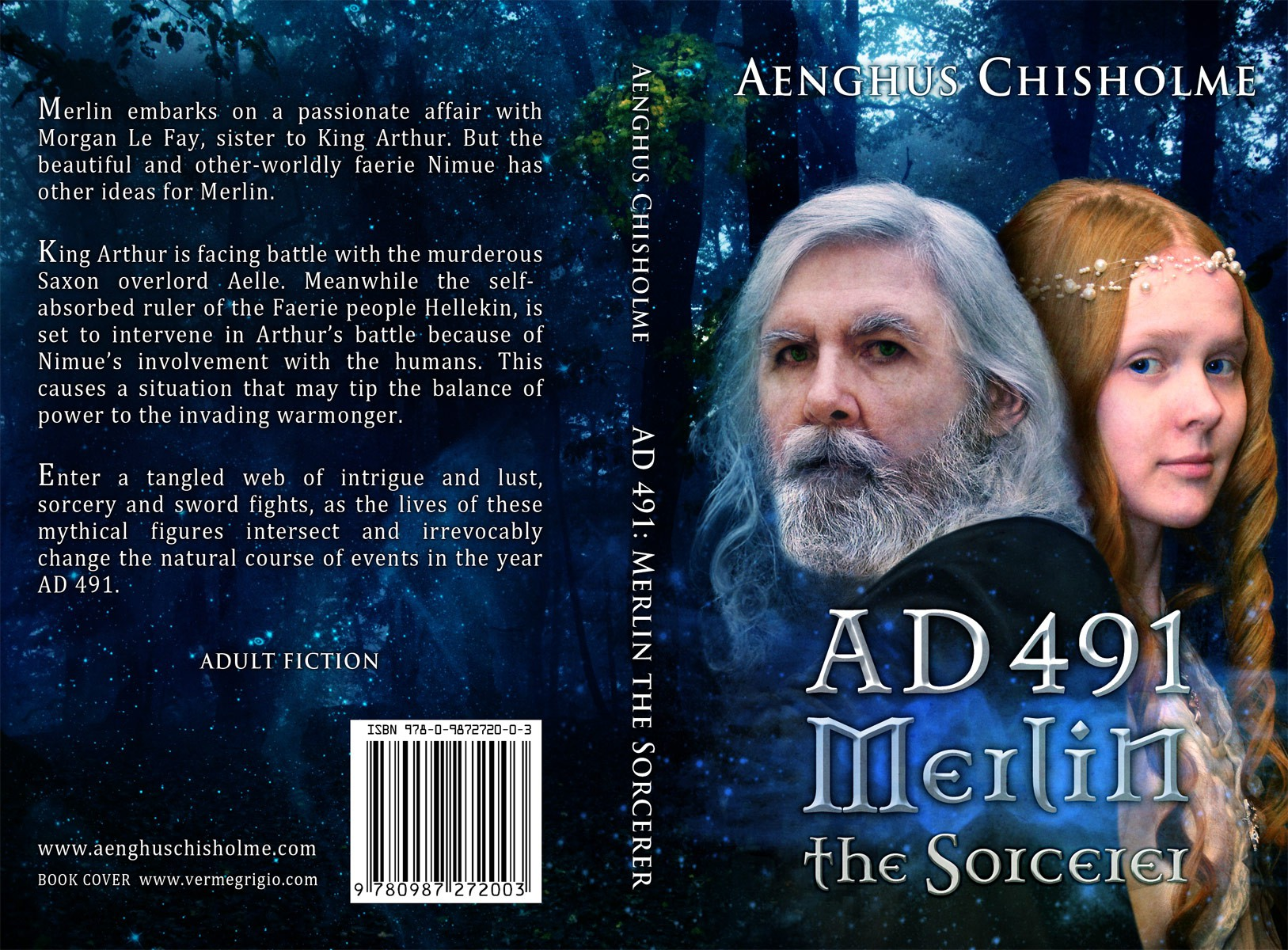 Create the next print or packaging design for Aenghus Chisholm Fiction Author