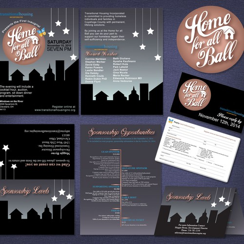 Create logo/invitation for non-profit gala fundraiser