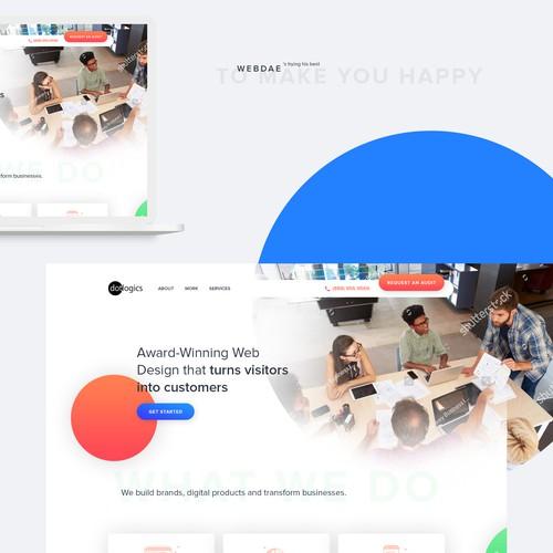 Playful website for web design firm
