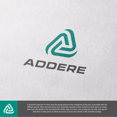 Logo concept for manufacturer of 3D printing apparatus