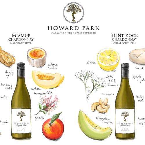 Wine descriptor illustrations