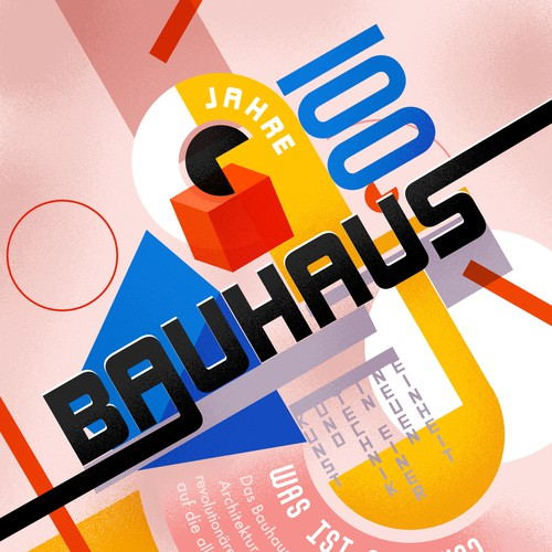 Bauhaus 100th birthday - infographic