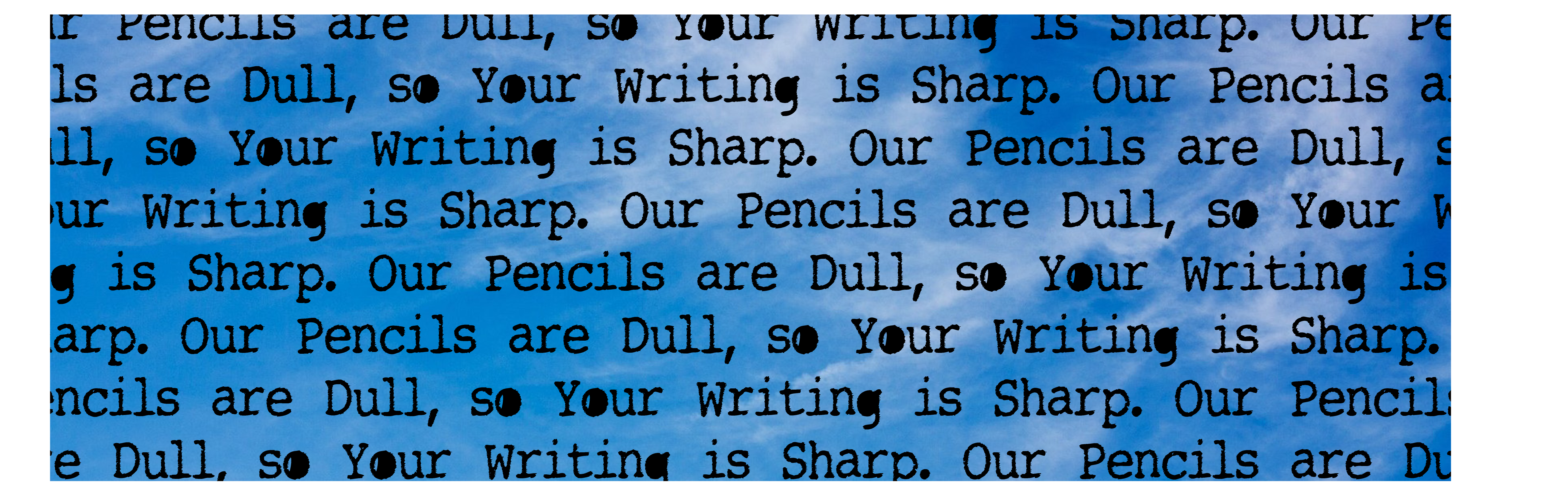 Dull Pencils Twitter page header photo