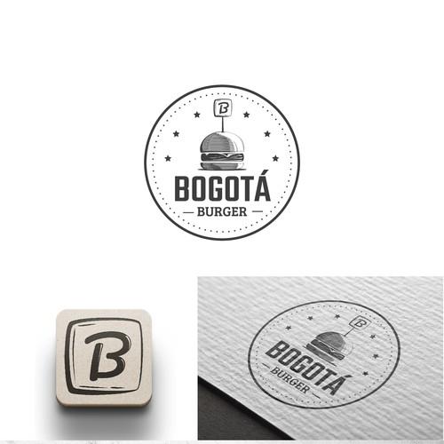 Logo concept for burger restaurant
