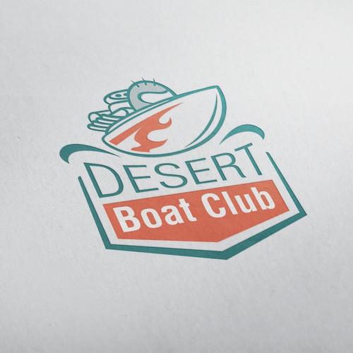 classic logo for Desert Boat Club