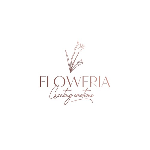 creative logo for a flower shop