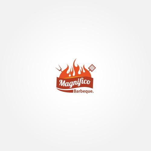 A creative BBQ logo for a good restaurant
