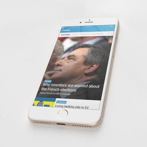 Finance News App Concept