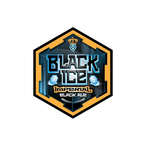 Make us a specific Beer logo - Black Ice Imperial Black Ale