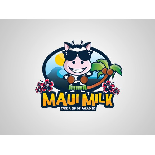 Character Logo For Maui Milk