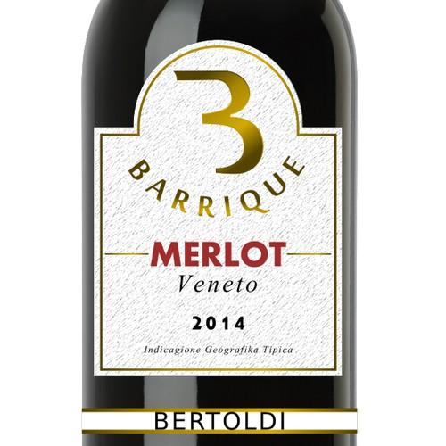Bertoldi Barrique Merlot label 1