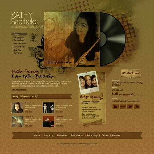 New website design for classical music artist