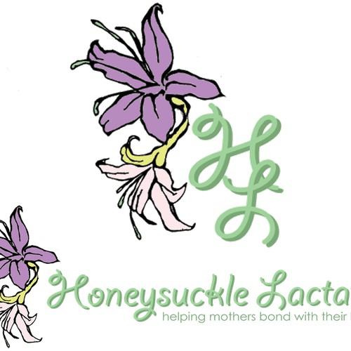 honeysuckle lactation logo contest entry