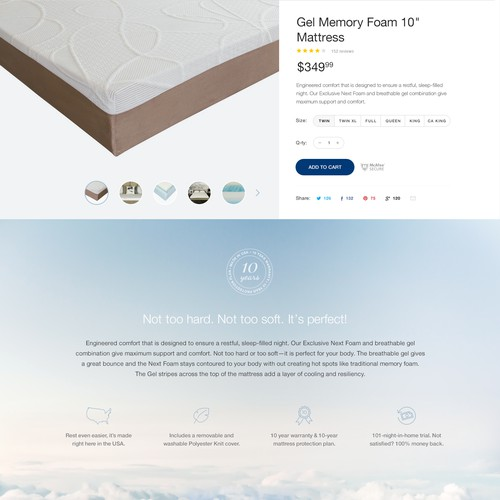 Redesign our product selling page