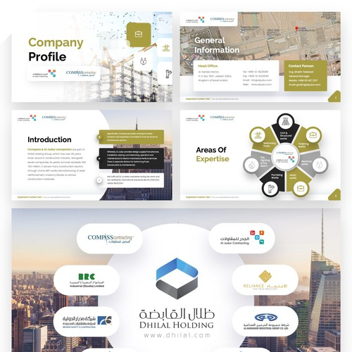 Powerpoint Presentation in Arabic About Company Profile