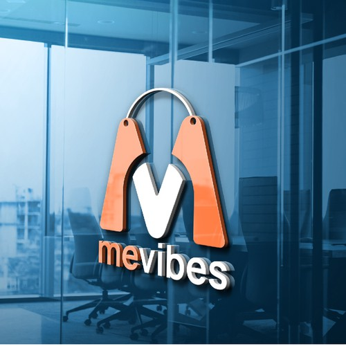 Iconic fun and playful logo for MeVibes online store