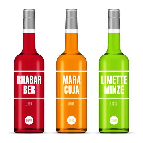 Etiketten Design für Sommerliköre