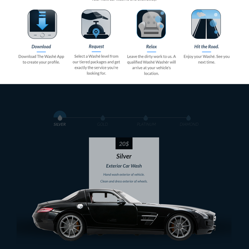 4 skeuomorphic icons for cleaning car app
