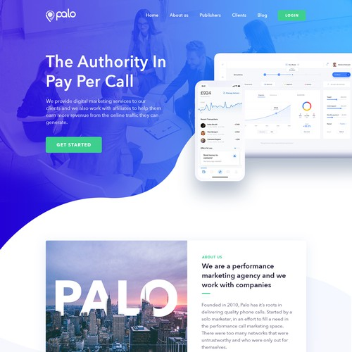 "Wordpress Design for Leading Agency ""PALO"""