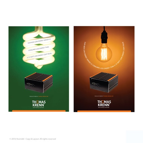 Advertising concept based on energy efficiency.