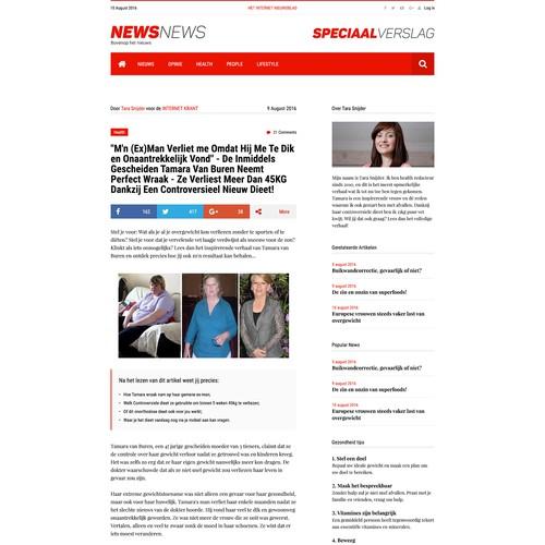 Landingpage news site