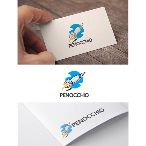 Create a simple, modern and trendy logo capturing pen/pencil illustration