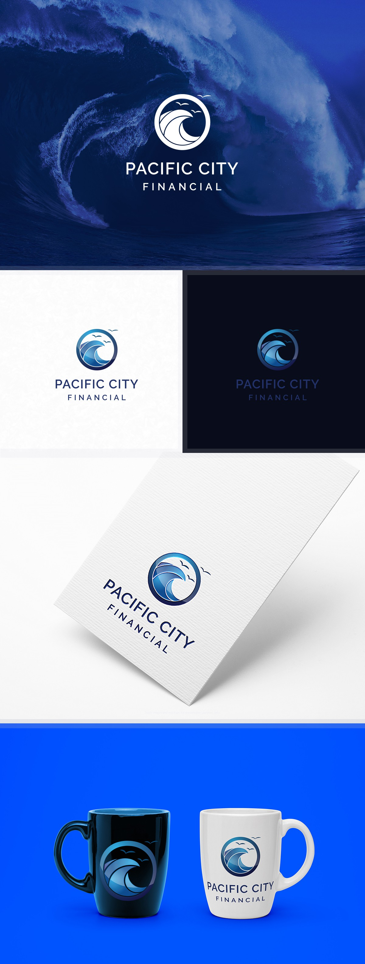 Design a wave logo for a new mortgage company