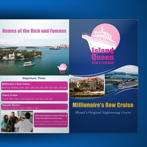 Create a brochure for the largest sightseeing cruise company in Miami