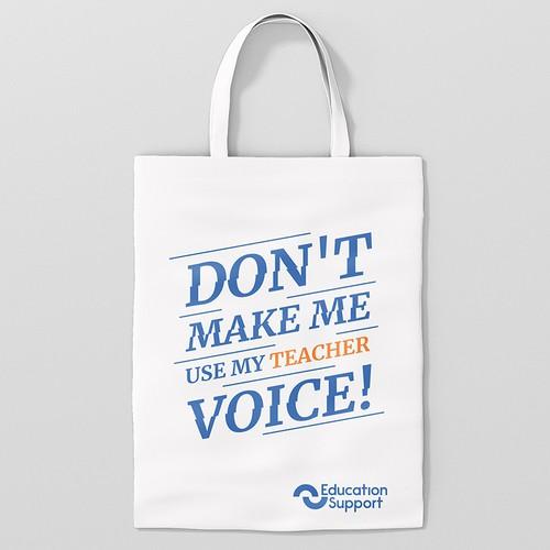 Design a fun tote bag for teachers