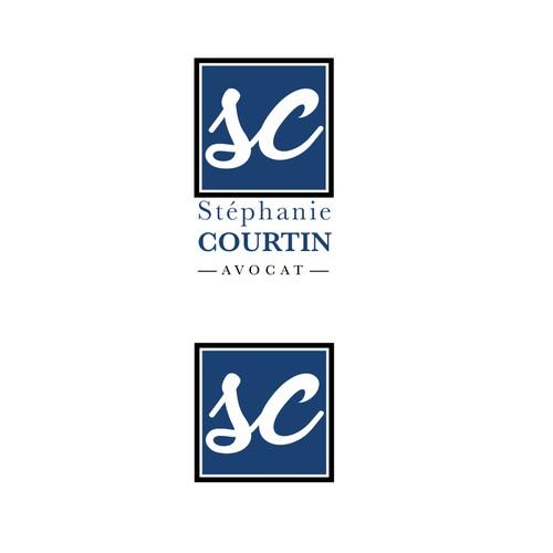 Concept logo pour l'avocat S. Courtin