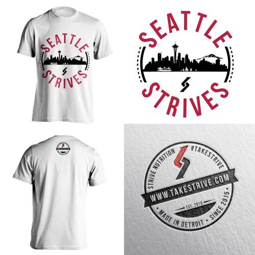 T-Shirt Concept - Seatle Strives