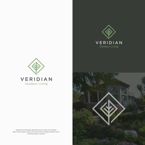 Simple, bold logo for high end landscape design/build firm