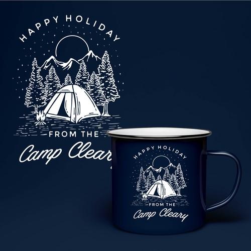Camping Scene for Mug cover