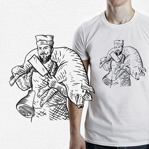 Butcher  (t-shirt illustration)