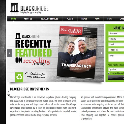 Feature image for BlackBridge website