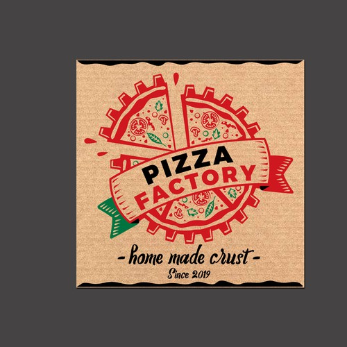 packaging design for pizza box