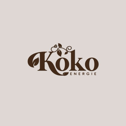 Design a creative organic logo for KoKo Energie - an essential oil company.