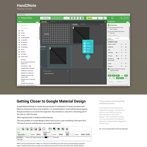 Redesign two screens by Google Material Language.