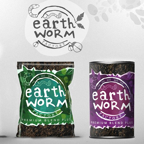 Earth worm Branding + Packaging