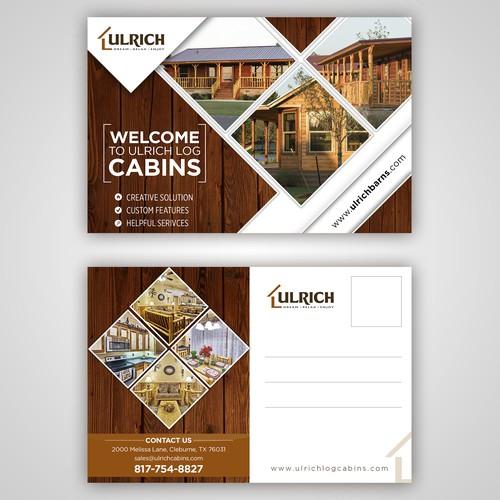 Cabin Postcard Design