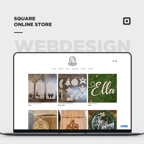 Square online store for a Woodshop