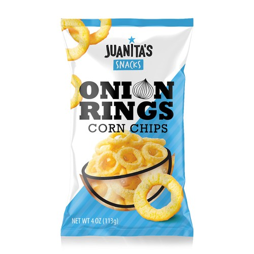 Juanita's Snacks Onion Rings Corn Chips