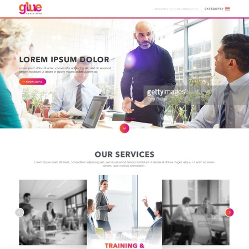 Homepage Design for Glue