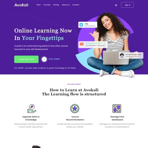 Modern design for online education