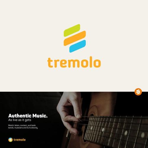 logo concept for 'tremolo' music website