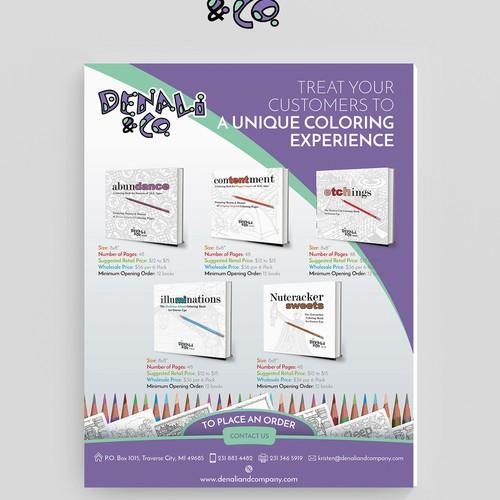 Coloring Books Flyer Design