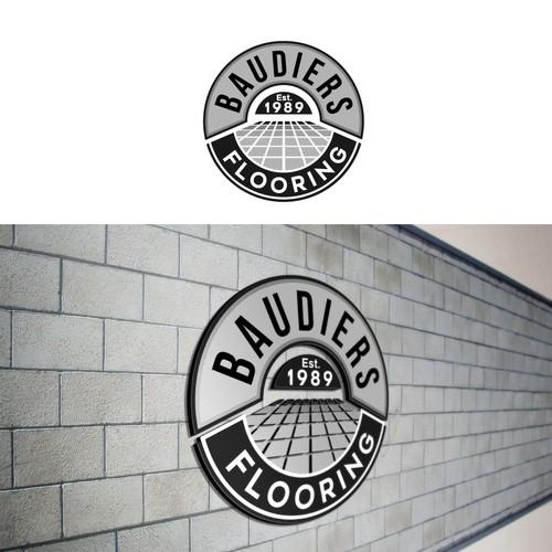 Bold logo concept for flooring company